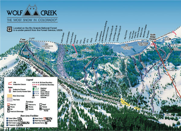 Wolf Creek Trail Map - left side