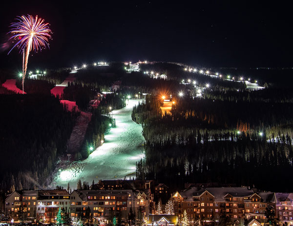 Night skiing at Keystone