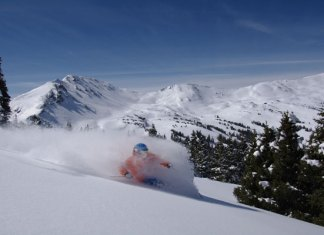 Powder skiing Loveland Colorado