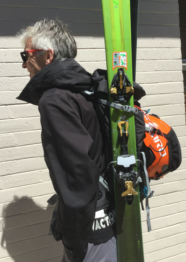 Ortovox Traverse 30 pack with skis