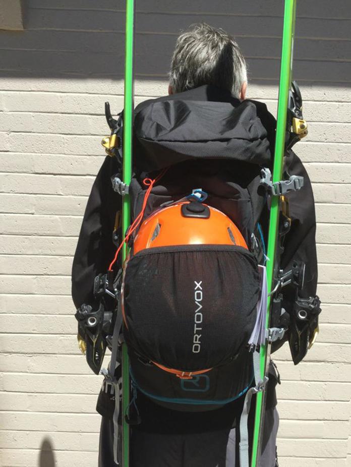 Ortovox Traverse pack helmet net