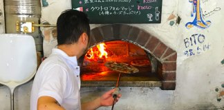 best ski resort pizza in Japan at Locanda del Pittore Iwappara Yuzawa
