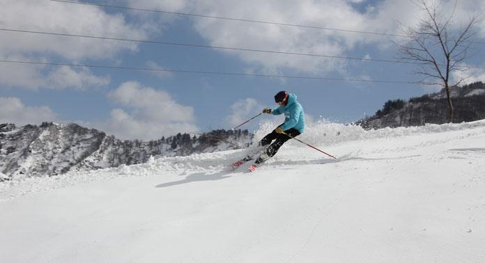 Skiing powder Kandatsu Kogen