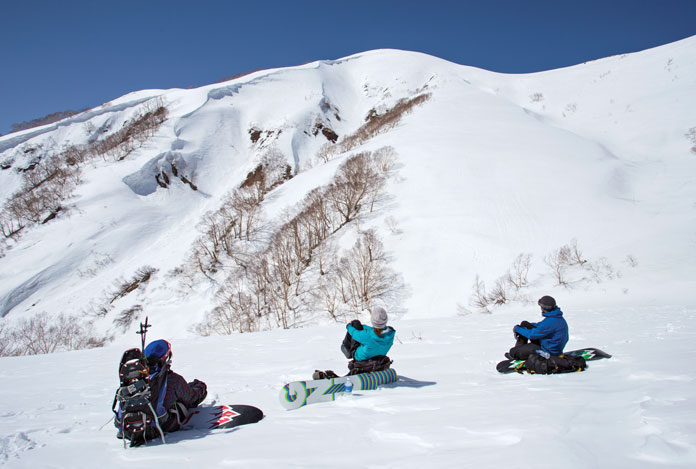 Checking out back country lines Myoko Grand Traverse