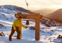 Ringing the Karel's Bell sunrise at Thredbo