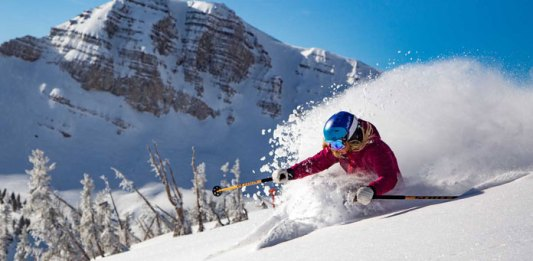 Freeride deep snow at Jackson Hole