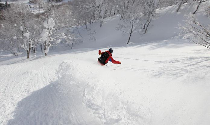 Powder riding at Mt Nishimori Appi Hachimantai
