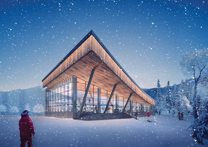 Artist's impression of the new Hanazono Edge Ski Centre
