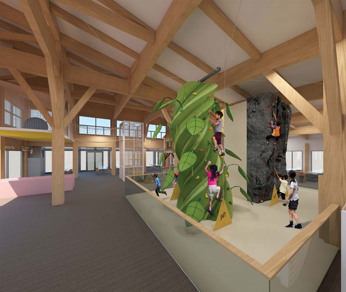 Artist's impression of new 'Galaxy of Kidz' facility at Hanazono Niskeo