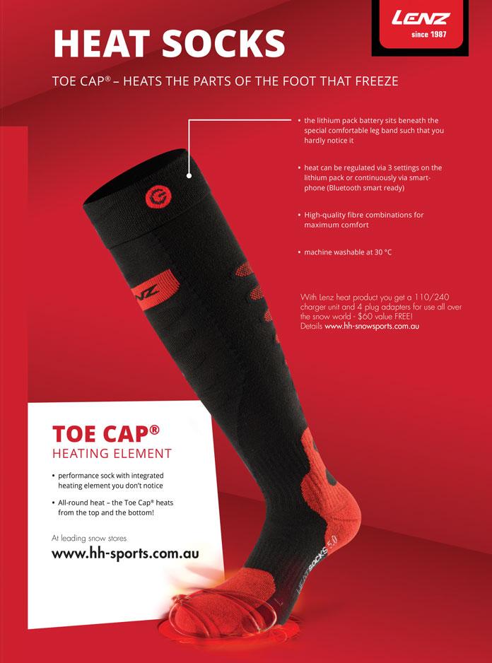 LENZ Heat Sock 5 with Toe Cap Heating Element