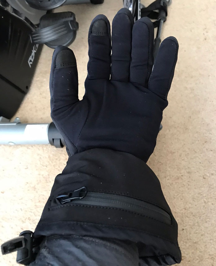 Venture Heat glove liners view of battery pocket