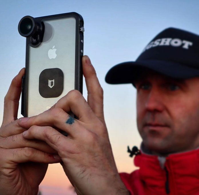 Shooting at sunset with the Hitcase PRO iphone case