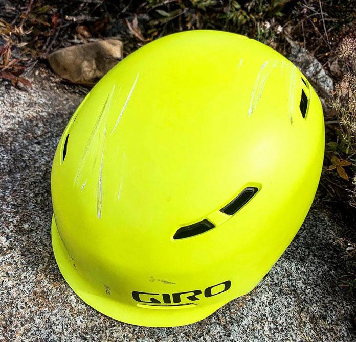 Giro Trig helmet damage