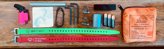 A decent repair kit is an essential inclusion for your ultimate ski day pack