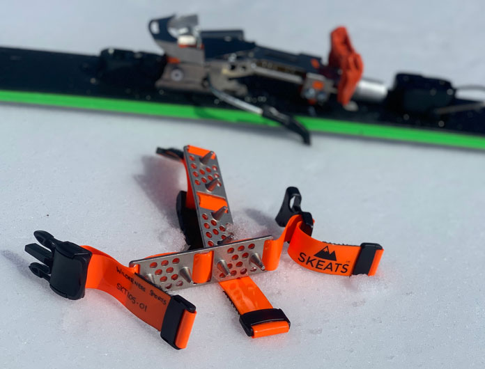 Skeats are a strap on crampon tool for any skis