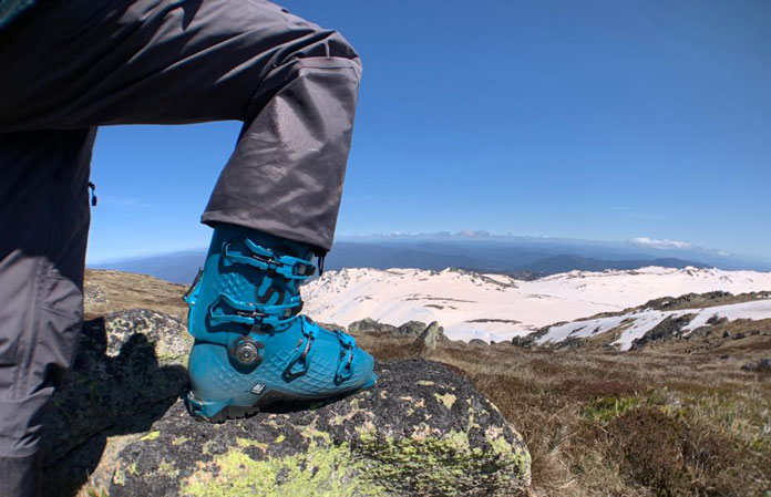 Rossignol AllTrack Pro 120LT boots getting tested in the Australian back country