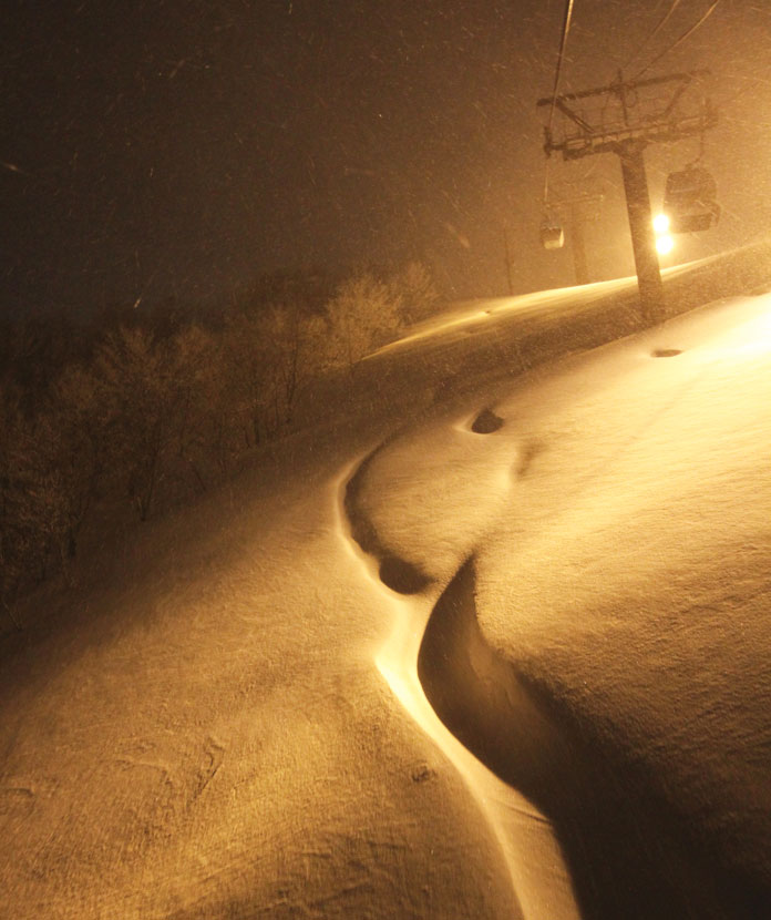 Japan's second best night skiing can be found at Geto Kogen