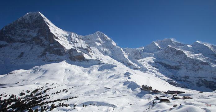 View of the Eiger from above Kleine Scheidegg