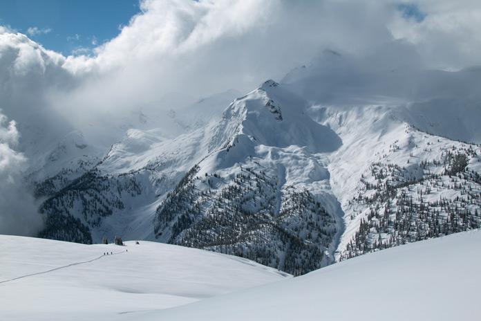 Spectacular high alpine views at Mike Wiegele Heliskiing