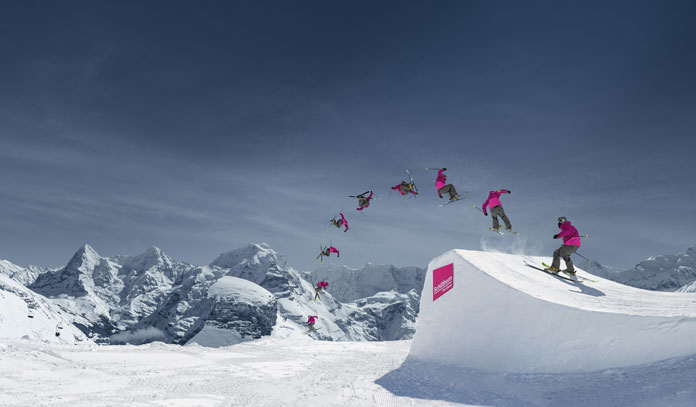 Schilthorn Piz Gloria has one of the best terrain park views in the World
