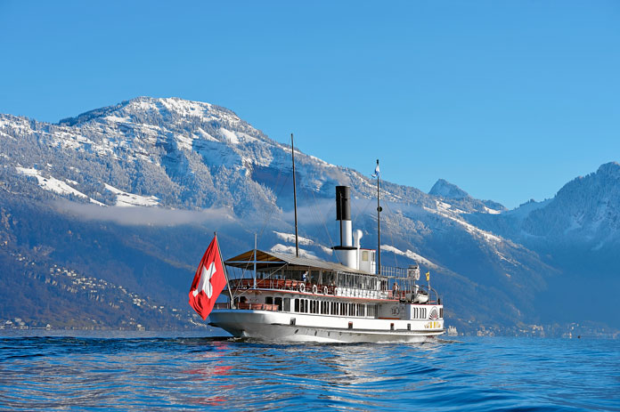 Swiss Travel System includes lots of lake steamers