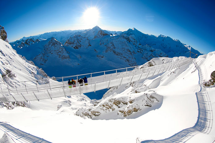 Titlis skywalk one of the many amazing attractions available with a Swiss Travel System Pass