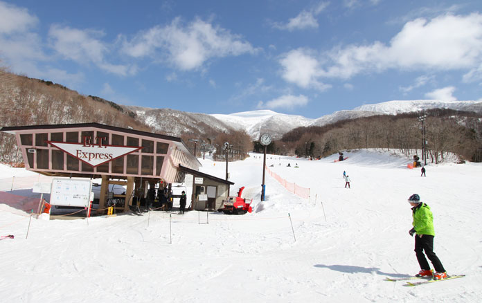 View from the base at Minowa ski area in Aizu