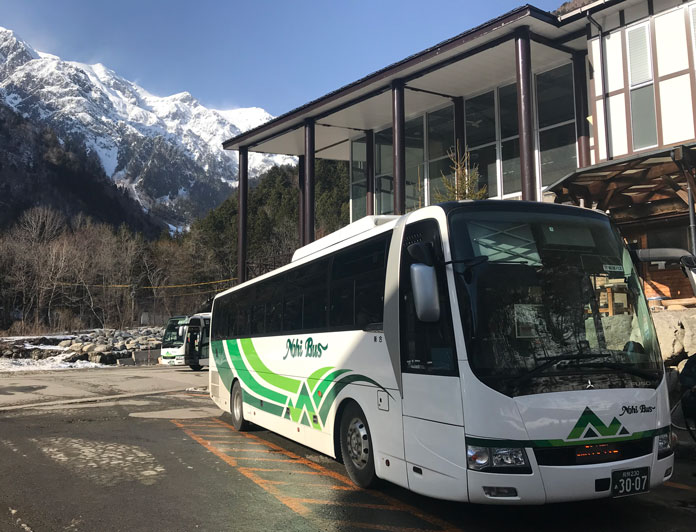 Nohi Bus at Shinhotaka offers services from Matsumoto and Takayama