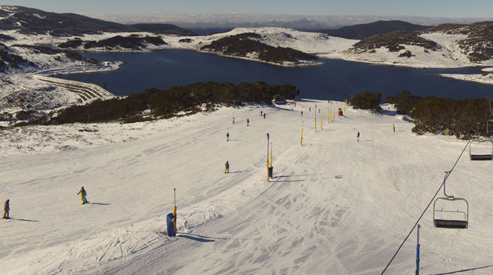 Snowmaking saves the day at Falls Creek