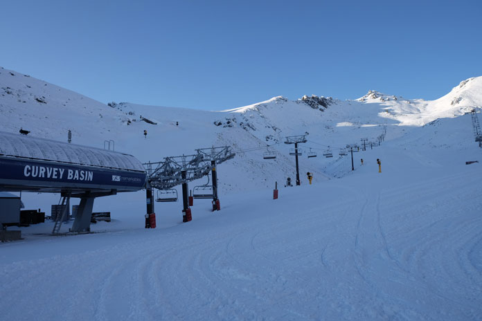 Curvery Basin chairlift, The remarkables ready for opening day
