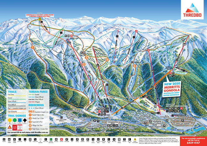 Thredbo Trail Map showing Frank's Face run named after Frank Prihoda