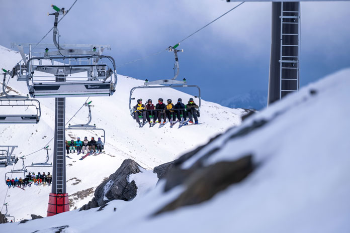 First rides on the new Sugar Bowl Express chairlift at The rEmarkables, Queenstown
