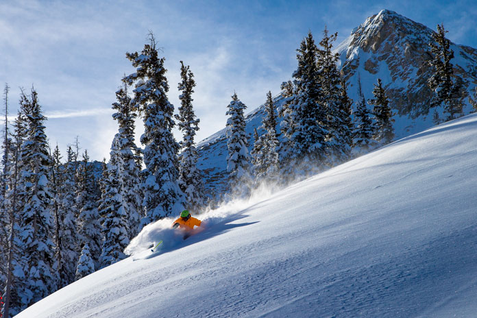 Powder skiing at Crested Butte