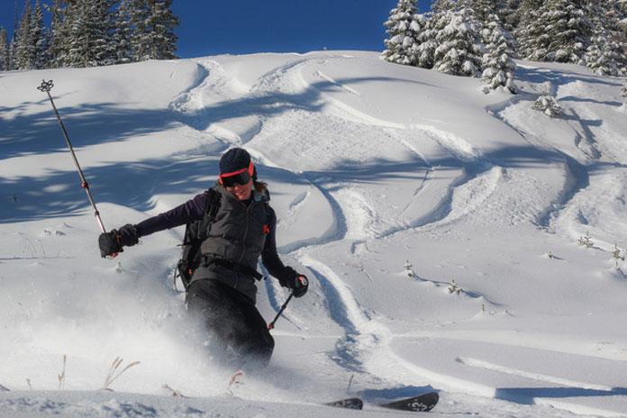 Powder skiing Wolf Creek Colorado 27 October 2020