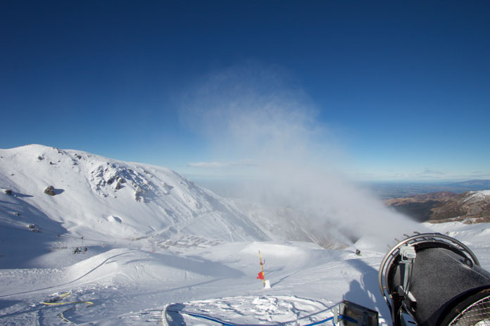 Snowmaking at Mt Hutt guarantees a long season and great season pass value