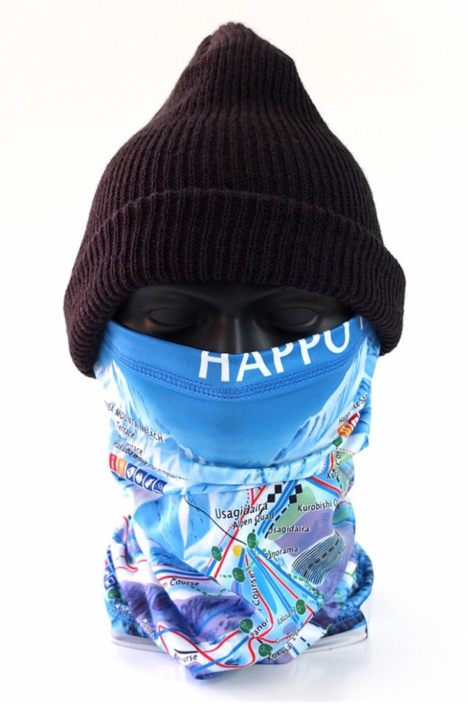 SkiMapIt Happo-One ski trail map neck warmer