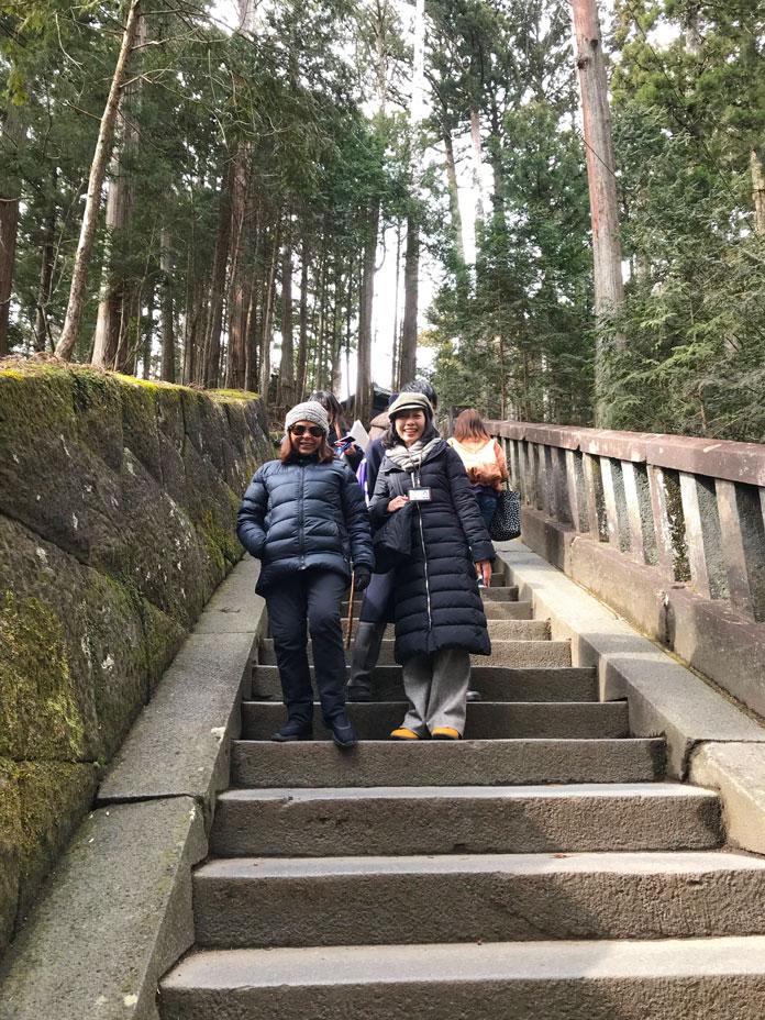 207 steps to summit of Toshogu Shrine
