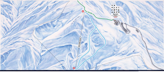 Cardrona's new Willow Quad Chair terrain map