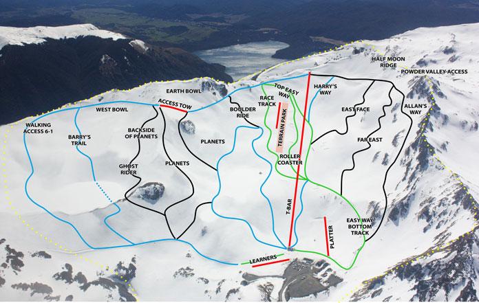 Rainbow Ski Area Trail Map