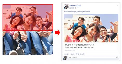 FacebookのOGP画像に「顔」が入っている場合のトリミング位置についてまとめ