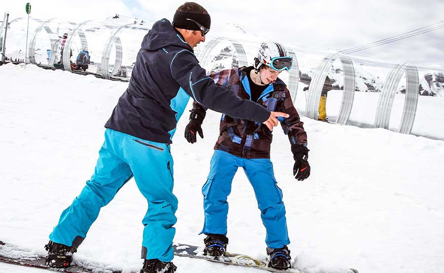 Learning to snowboard is doable and fun