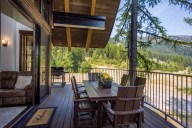 Your private balcony features a dining set for 6, a gas grill and your own hot tub [Ponderosa]