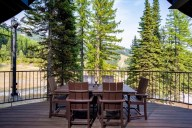 With seating for 6, your private deck is the perfect place for family dinners! [Tamarack]