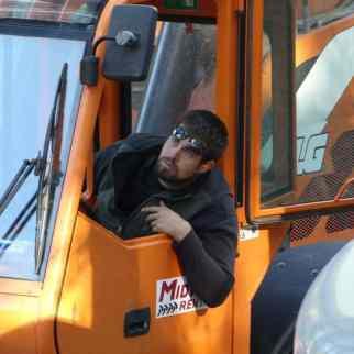 Mike working hard