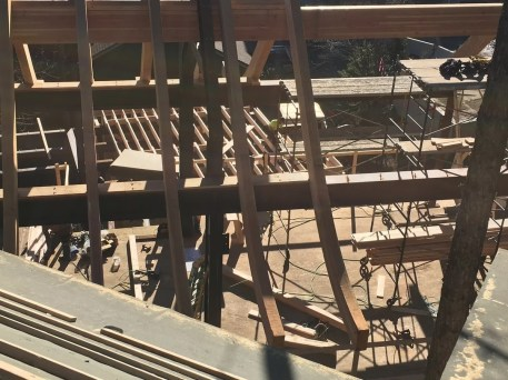 Tamarack roof trusses, 11/10