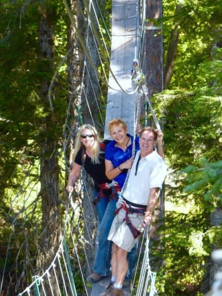Me with dear friends Elaine and Dane, hiking by the treehouses