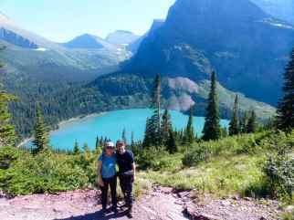 Kristan and Max from RazorFrog Web Design (photo taken at nearby Iceberg Lake Trail in Glacier)