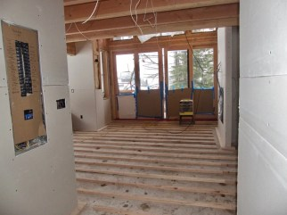 Ponderosa floor, awaiting the gypcrete for radiant heating