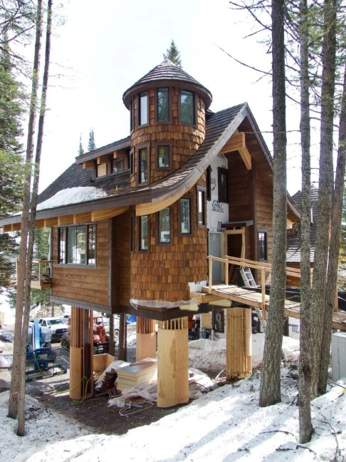 Tamarack with a completed turret