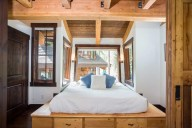 Ponderosa - The master bedroom, cantilevered out among the trees